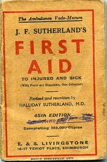 Old-school first aid!
