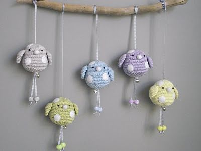 would be cute for a baby mobile or to decorate a baby room or even as a gift to a kid!
