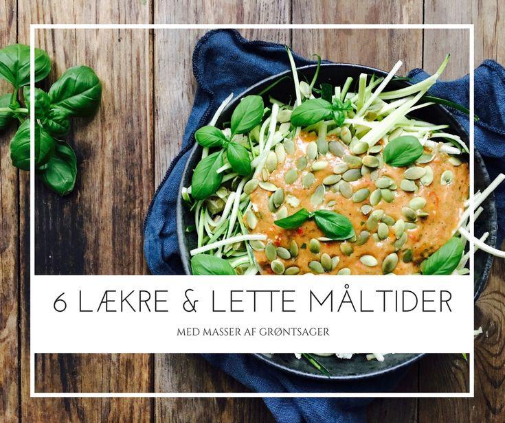 6 lækre og lette frokoster med masser af grøntsager - opskrifter og inspiration her: