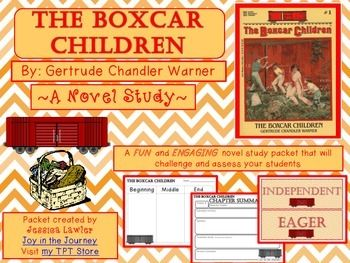 """The Boxcar Children"" MEGA Packet. Perfect for individual study, literature circles or small groups, or a whole class novel study. 50 pages for only $5."