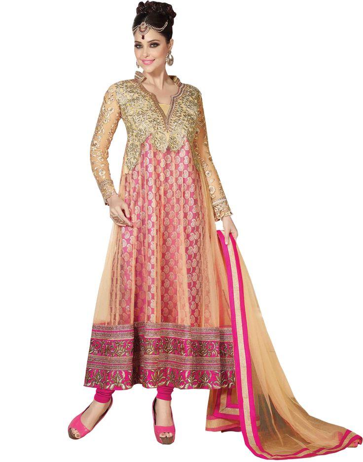 Magenta Coloured Semi Stitched Anarkali Salwar Suit having attractive Zari work on Net Jacquard febric, Dupatta and full Sleeve #DesignerSlawarkameez, #MagentaSalwarKameez #WeddingSalwarKameez, #NetFabricSalwarkameez, #EmbroideredWorkSalwarKameez #EmbroidedSalwarKameez  #WeddingDress #PartyWearDress #AnarkaliSalwarkameez #AnarkaliDress #AnarKaliSuit #DesignerAnarkali #BridalSalwarKameez #SalwarKameezWithDupatta