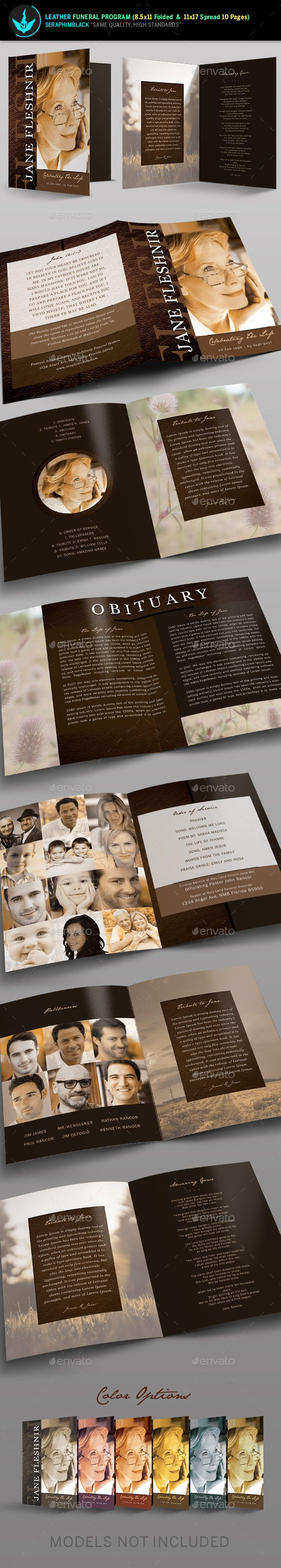 65 best memorial legacy program templates images on pinterest