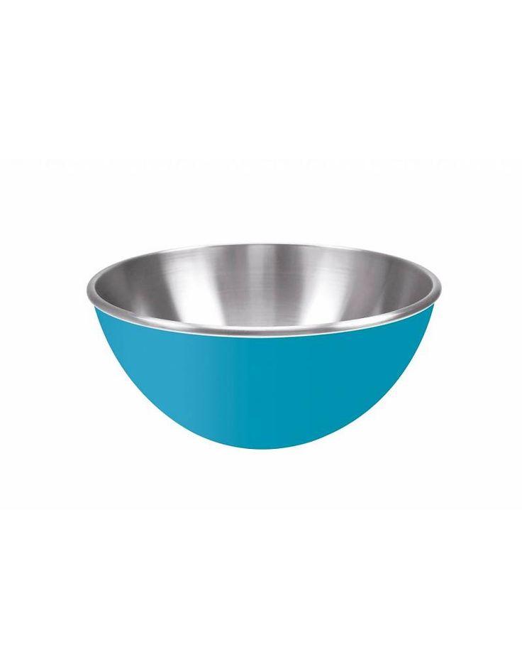 Aqua blauw RVS schaal - KitchenHugs