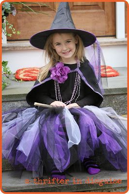 SCARY Witch Costume. Really, what's scarier that a witch in a tutu?  ;)