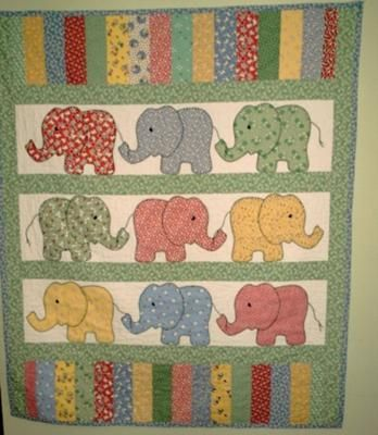 """Elephant Parade"" by Allie H. (from Make Baby Stuff)"