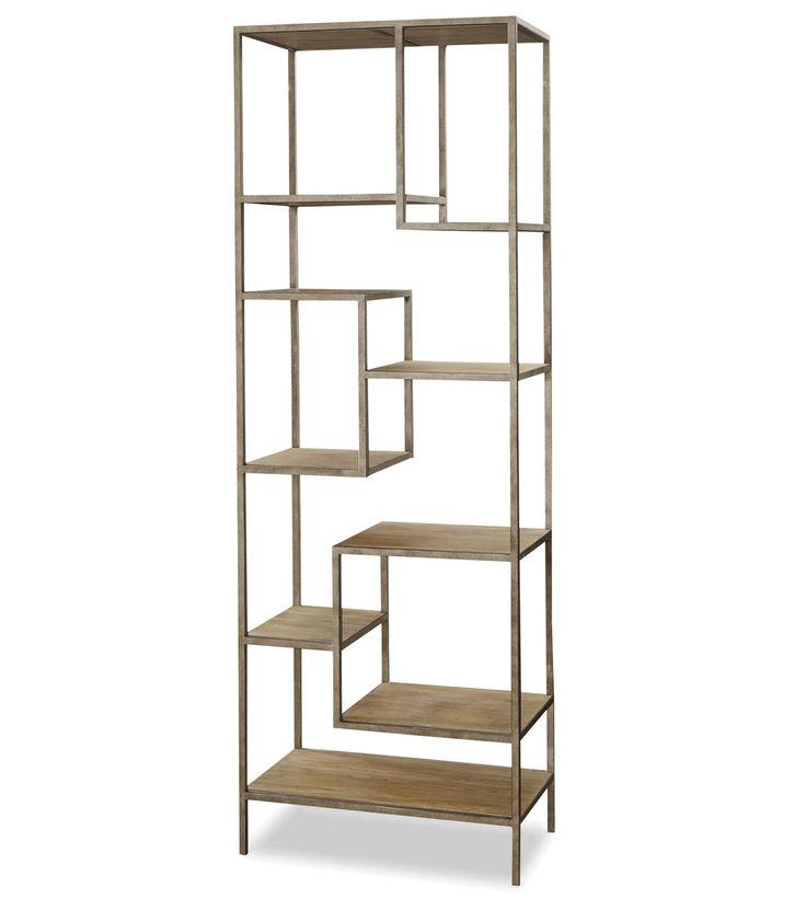 French Modern Industrial Wood + Metal Bookcase Etagere - Best 25+ Metal Bookcase Ideas On Pinterest Industrial Bookshelf