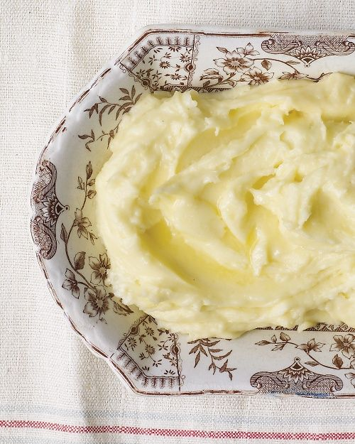 Make-Ahead Creamy Mashed Potatoes for #Thanksgiving - Martha Stewart Recipes - but maybe with a bit less butter!