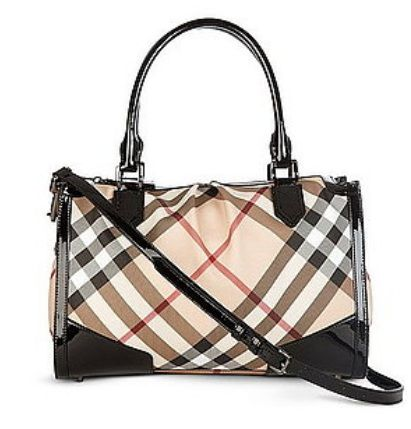 Burberry Nova Check Large Bowling Bag With Long Strap Black 0 2 290 Myr