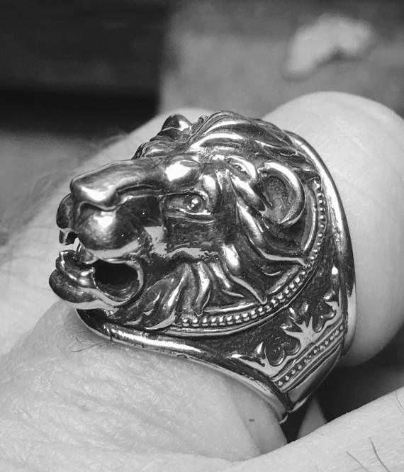 7bac02375 Lion head ring All my rings are made from solid sterling silver 925. Each  casting ring is hand finished before having a patina added. Once the patina  added, ...