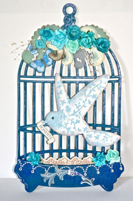A BTP Birdcage by Kelly-ann Oosterbeek made using the Betsy's Couture collection from Kaisercraft. www.amothersart.com.au