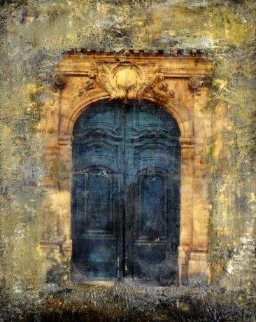 Blue Door II by Lee Anne LaForge, Encaustic on Panel, Mixed Media   Koyman…