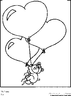 Valentines Day Coloring Pages Balloons
