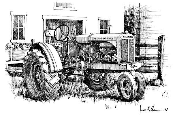 allis chalmers tractor coloring pages - photo#26