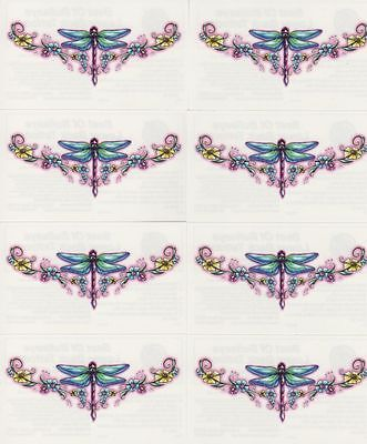 SEXY DRAGONFLY LOWER BACK TRAMP STAMP TEMPORARY TATTOOS * 8 PCS LOT ...