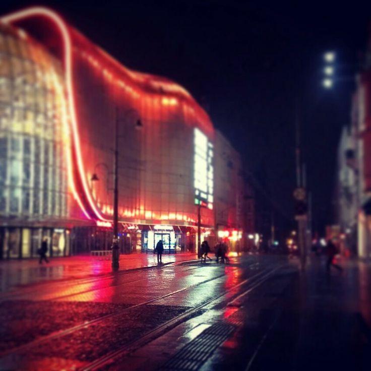 Katowice at night