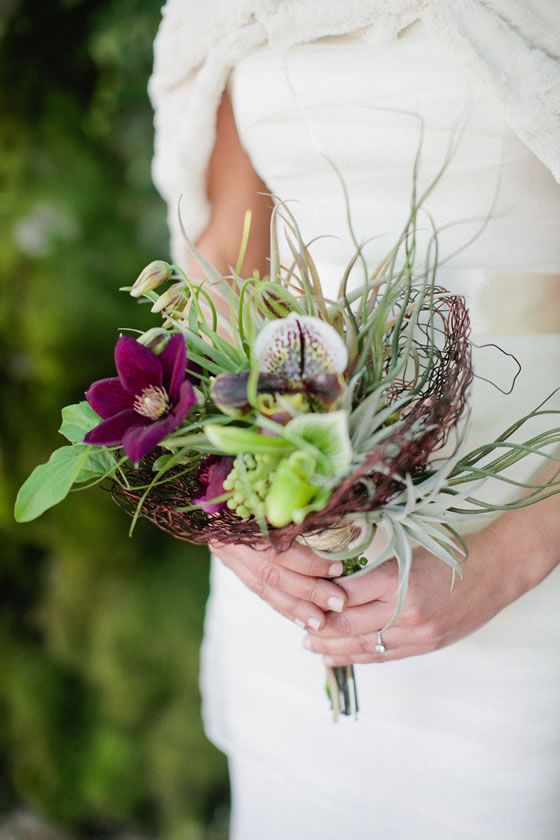 A Rustic Wedding Bouquet By Waterlily Pond San Francisco