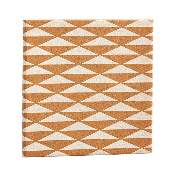 Write a note, find a pushpin, and stick it to this diamond patterned corkboard…