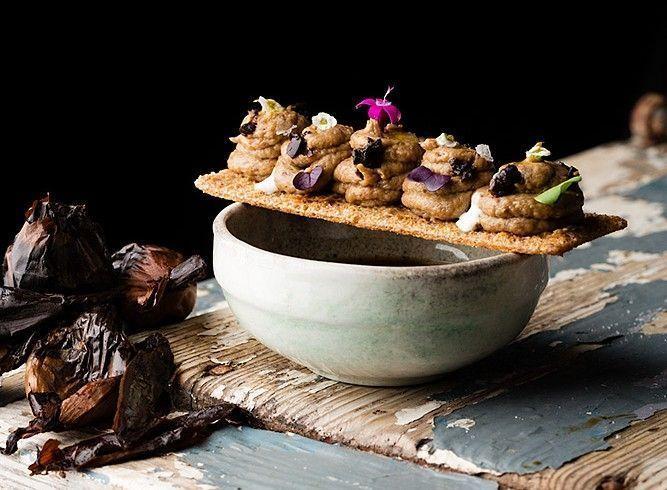 ¡Otra #receta! Paté de cebolla negra, setas de temporada y aloe vera. ¡Rico, rico! cortesía de @CozarMiriam #LasRecetasDeLaAbuela #cocinando