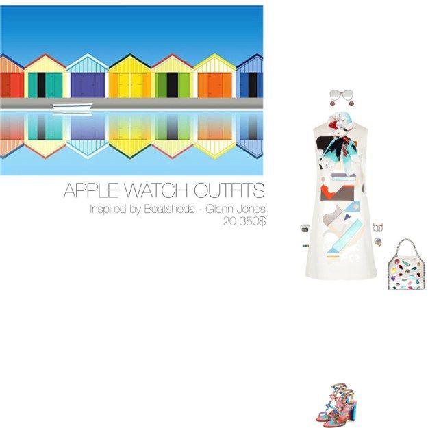 20,350$ @AppStore Apple Watch #MostExpensiveOutfit Inspired by Boatsheds, 2015 – Glenn Jones @glennjonesart ft. @victoriabeckham @MaisonValentino @StellaMcCartney @EFFYJewelry @WorldMcQueen @Linda_Farrow