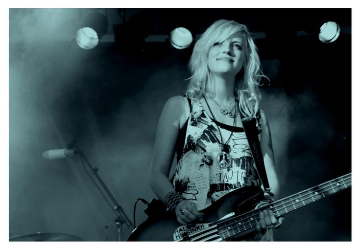 The coolest and most beautiful rocker girl in the whole world! Elli from Finnish band called Haloo Helsinki!