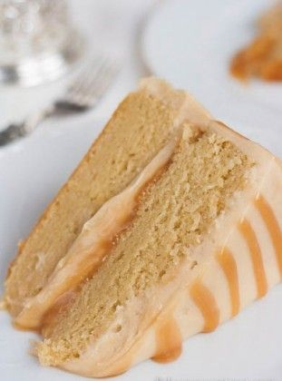 """Antique Caramel Cake ~ This cake will always be on your list """"must be baked"""" after you taste it for the first time. It is unbelievably good!"""