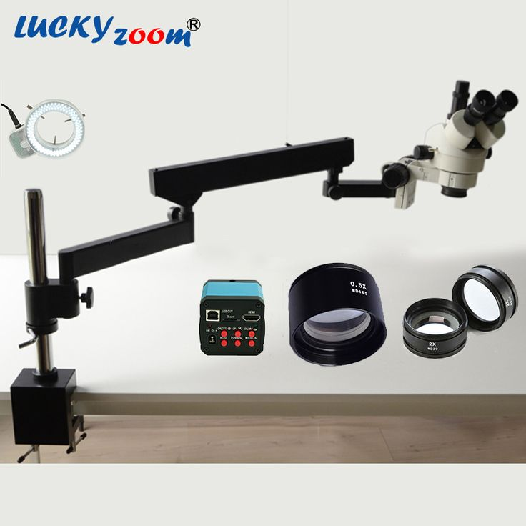 Find More Microscopes Information about Lucky Zoom Brand 3.5X 90X Articulating Arm Zoom Stereo Microscope 14MP HDMI Digital Camera 2.0X 0.5X Objective Len 144LED Light,High Quality lucky zoom,China microscope 14mp Suppliers, Cheap stereo microscope from Luckyzoom Shop (professional microscope ) on Aliexpress.com