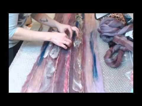 Надежда Элпис Работа с блендами и мультиколорами. Создание шарфа - паутинки - YouTube