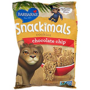 Snackimals Animal Cookies Chocolate Chip (1 Bag) by Barbaras Bakery at the Vitamin Shoppe