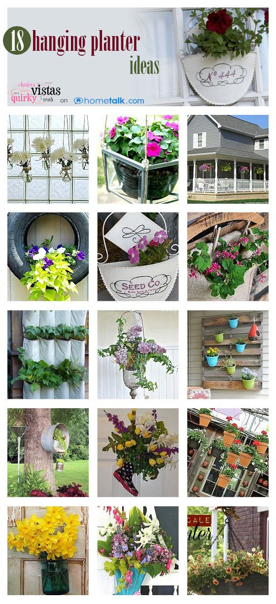 18 Awesome DIY Hanging Planter Ideas!