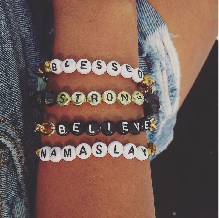 Word Bracelets Letter Bead Bracelets Blessed Bracelet Strong Bracelet Namaslay Bracelet Believe Bracelet Inspirational Bracelets by NicolesCraftRoom on Etsy https://www.etsy.com/listing/295363497/word-bracelets-letter-bead-bracelets