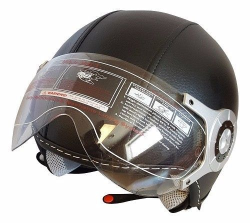 Leather Street Open Face Flip Visor Motorcycle Scooter DOT Helmet - S M L XL | eBay Motors, Parts & Accessories, Apparel & Merchandise | eBay!