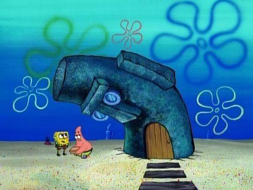 Even Squidwards House Wants To Know Patricks Secret Spongebob