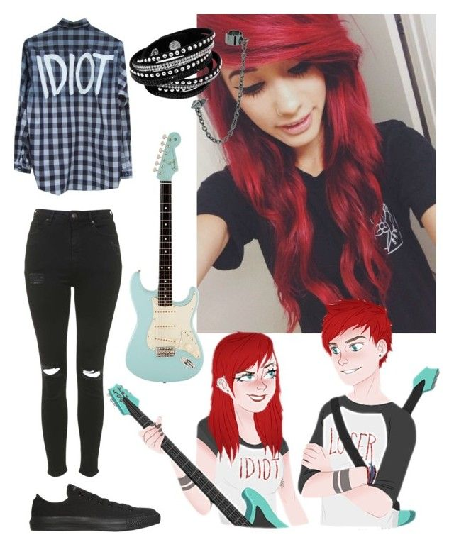 """Michael clifford"" by blacksecret666 ❤ liked on Polyvore featuring Converse, Topshop, Topman, outfit, michaelclifford, 5secondsofsummer and 5sosoutfits"