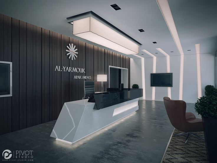 Interior design and 3D visuals of Apartments building reception located in Al-Yarmouq area – Riyadh.