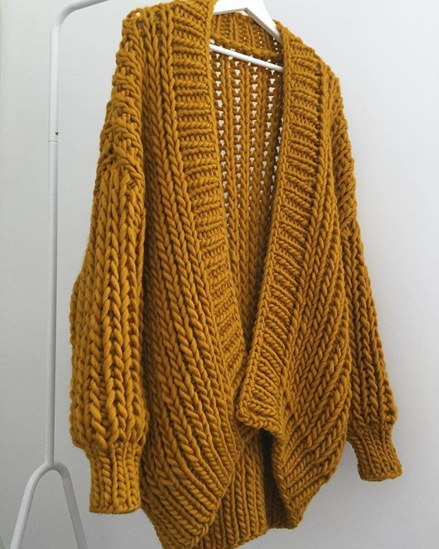 8ccc6e31 Another Day, Another Amazing Colour Chosen By A Lovely Customer 🍁 Bramble  Cardigan In Mustard Gold ✨✨✨ #goldfrecklesknitwear #cardiganweather