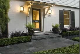 Reminds of Becky's front door With some alterations it could be made to look like this.  Need planter's boxe and paint concrete and house shutters, door in dark gray, house off white