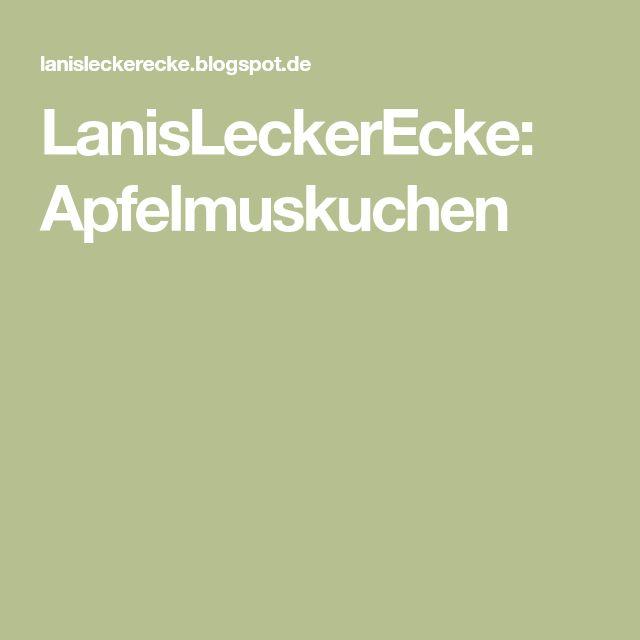 LanisLeckerEcke: Apfelmuskuchen