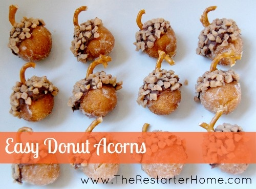 Donut Acorns: Easy Thanksgiving Treat for Kids