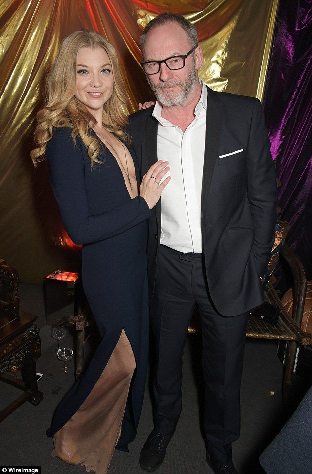 Cast mates: She posed in her long plunging frock with Liam Cunningham who plays Davos Seaw...