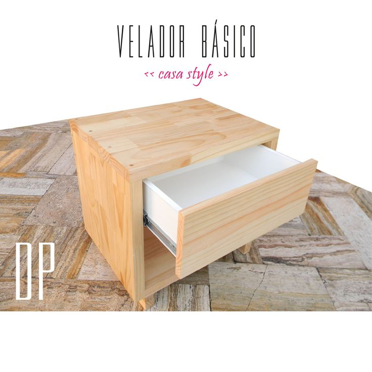 Basic night table / Velador básico / Diseño Patrón Chile furniture