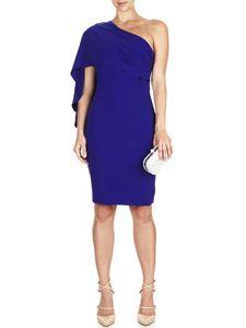 Cate One Shoulder Cape Dress
