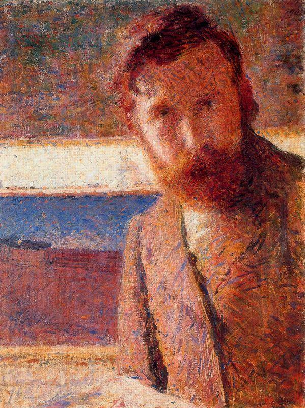 """Giacomo Balla (1871, Torino - 1958, Roma), """"Autoritratto"""" / """"Self-Portrait"""", 1902, Olio su tela / Oil on canvas, 59 x 43 cm, Banca d'Italia, Roma"""