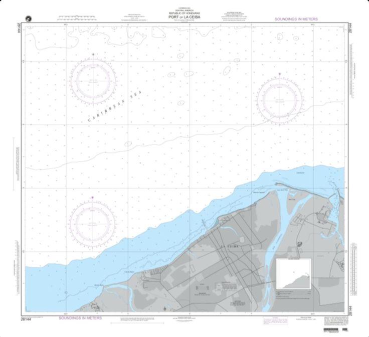 Port Of La Ceiba Nautical Chart (28144) by National Geospatial-Intelligence Agency