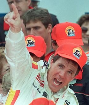 "Darrell Waltrip, winning a Daytona 500- ""I won the Daytona 500...wait, did I really win the Daytona 500!"""
