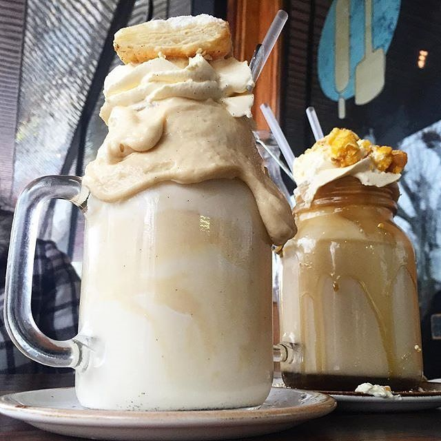 """""""Thank you Patissez for your amazing hospitality, enthusiasm and deliciousness!"""" Instagrammer tashlieschke has us all kinds of jealous with this photo of some of the incredible Freakshakes from @patissez. #visitcanberra #nomnomnom"""