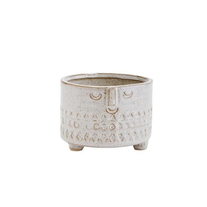Planter with face imprint- small
