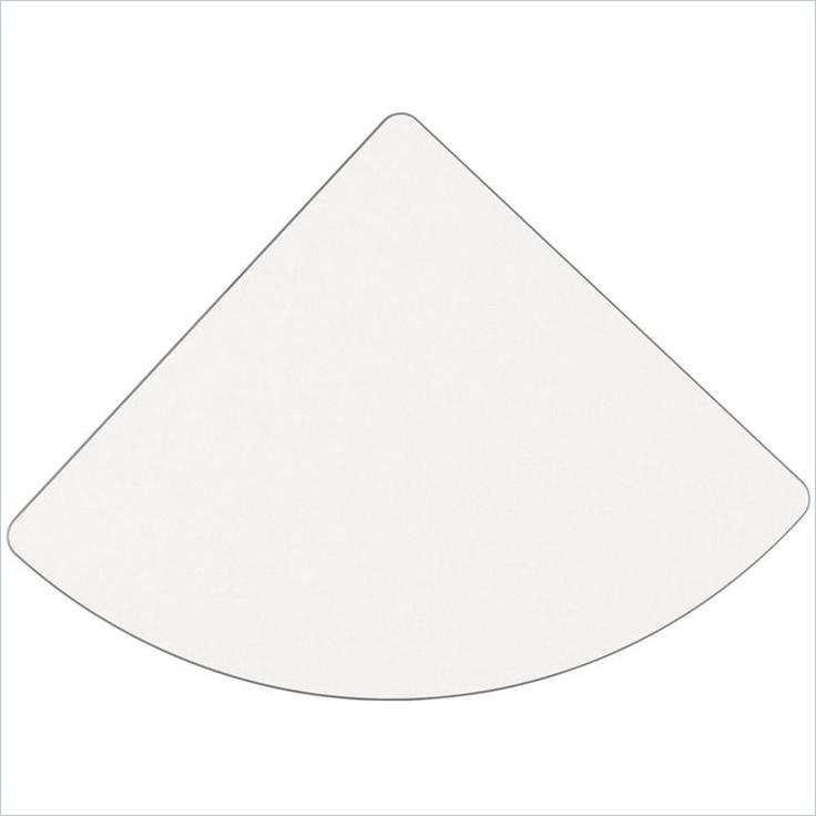 Bush Furniture White Spectrum and Pewter Advantage Series Corner Connector