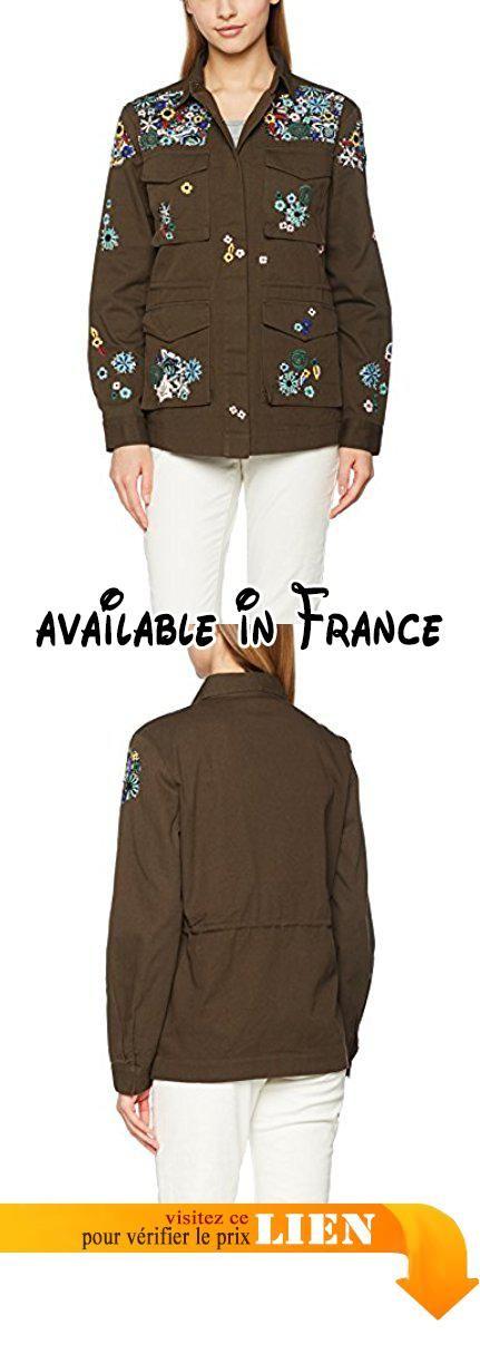 B01MZEM6LE : MISS SELFRIDGE Embroidered Military Blouson Femme Vert Kaki 40.