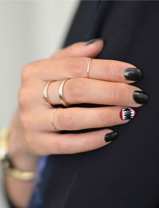 52 best halloween vampires images on pinterest 15 easy nail art ideas you can actually do in 5 minutes prinsesfo Choice Image