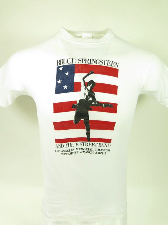 Vtg 80s Bruce Springsteen Born in the USA End Tour 1985 T-shirt Mens L [G93X 0lb 7oz]